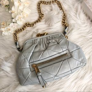 Marc Jacobs Stam Bag Quilted Gray Chain Strap EUC